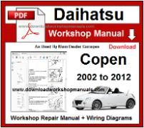 Daihatsu Copen Service Repair Workshop Manual Download